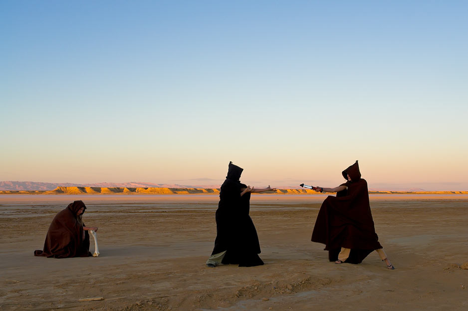 Jedi fight in the desert. Foto Sobi